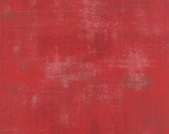 Evergreen red Grunge fabric by Basic Grey for Moda fabric