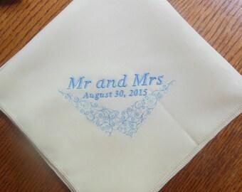 Wedding Napkins - Mr and Mrs