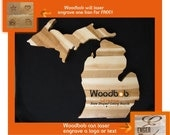 10-12'' Michigan lower peninsula W/ Logo laser engraving Reserved for mike silver harbor brewing