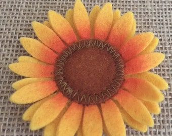 Felt Sunflower - 3 inch diameter