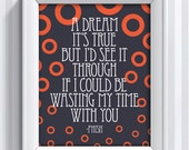 Phish Lyrics - Waste - 11x14 - poster print