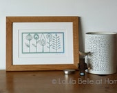 Reduced - Flora (2) papercut by Loula Belle at Home