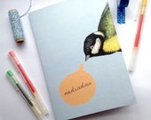 A5 Notebook Helo Welsh Hello Blue Bird Eco Friendly