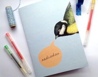 A5 Notebook Helo Welsh Hello Blue Bird Eco Friendly