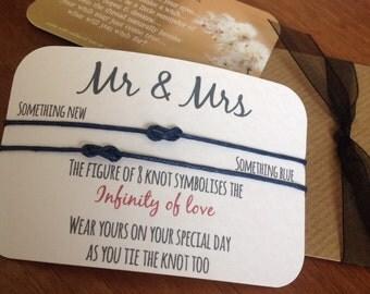 Mr & Mrs...Wish String Bracelet...