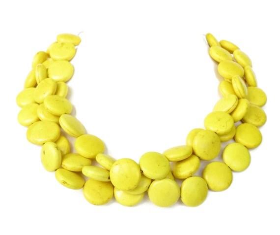 Bridesmaid Necklace - Bridesmaid Necklace Yellow Turquoise Necklace Yellow Statement NecklaceYellow Bridesmaid