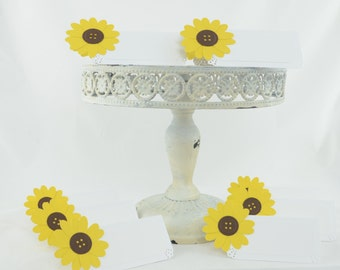 Sunflower Tent Place Card, Dessert Table, Food Labels, Table Labels