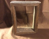 Box 5x7 Barn Wood Picture Frame, Hand Crafted One at a Time.