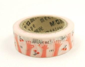 Japanese Washi Masking Tape - Gesture - 11 Yards