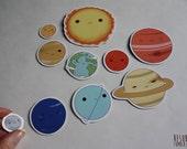 SALE solar system planet magnets