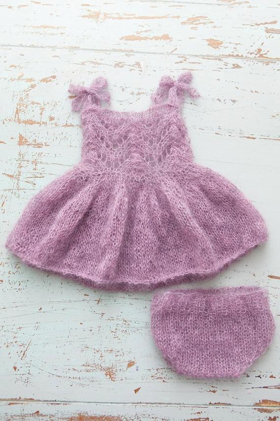Mohair Dress Knitting Pattern : PDF Knitting Pattern Newborn Mohair fairy dress by monkeymoomoo33