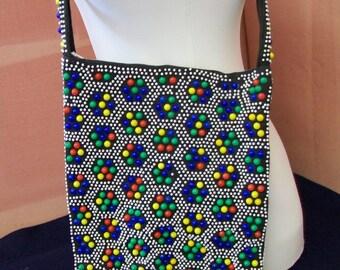 Multi Beaded Shoulder Bag Purse Vintage