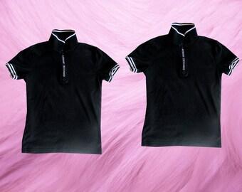 90's Armani Exchange BLack White Polo Logo Shirt