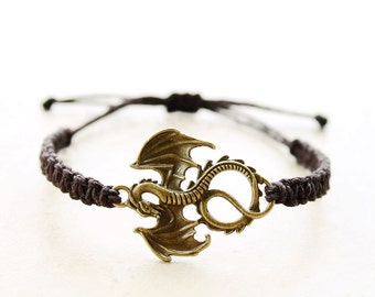 Dragon Bracelet - Hemp Bracelet - Hemp Jewelry