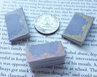 SALE - Miniature Vintage Books / Set of 3 / Tiny Books with real blank pages / 1:6 scale mini books / playscale / one sixth scale for Barbie