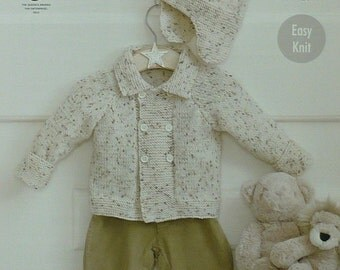 Helmet blueprint etsy baby knitting pattern k4318 babys easy knit double breasted jacket with collar bobble helmet knitting malvernweather Choice Image