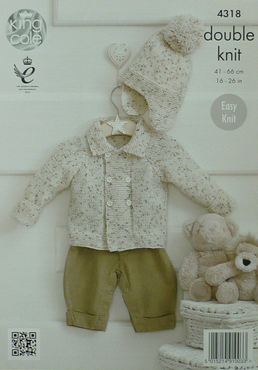 Baby Knitting Pattern K4318 Babys Easy Knit Double