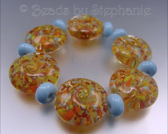 FAIRGROUND ATTRACTION – Lampwork Bead Set - Handmade by Stephanie Gough SRA