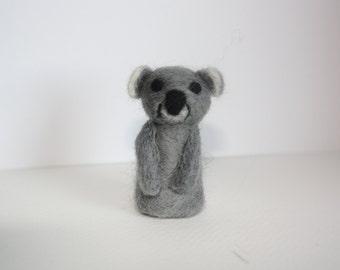 miniature koala needle felted sculpture