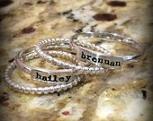 Stacking Name Ring - Hand Stamped Mother's Ring - Personalized Rings - Stackable Rings