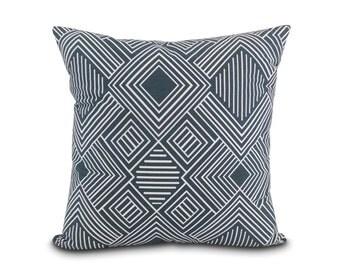 Gray Southwest Pillow. Washable Pillow Cover. Desert Modern Art Deco Throw Pillow. Invisible Zipper. Gifts for him.  Man cave decor. Phoenix