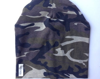 Camouflage beanie- slouch hat