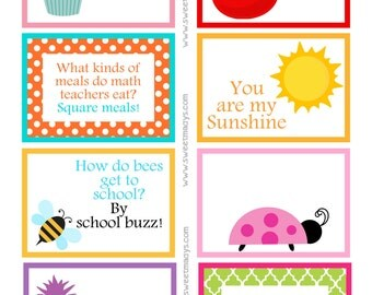 Printable Lunchbox Notes (Girls Back to School)