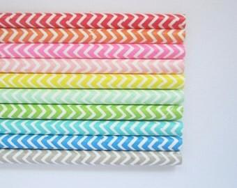 Sealed pack of 25 chevron zig zag paper straws - vintage party birthday wedding