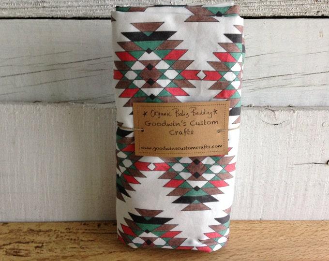 Organic Baby Bedding, Crib Sheet, Changing Pad Cover - Earthy Pineapple,  Southwest, Desert, Southwestern Decor
