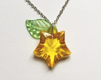 Paopu Fruit Necklace Sterling Silver (Kingdom Hearts)