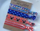 DISNEY CHARACTERS Minnie Mouse hair tie bracelet set