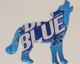 COYOTE / WOLF Magnet - Big Blue Soda Can