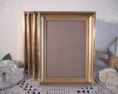 Vintage Gold Metal Picture Frame 5 x 7 or 6 x 8 Photo Mid Century Hollywood Regency Home Decor Rustic Shabby Chic Wedding Decoration Gift