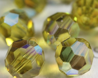 Promotion Item - 120pcs Swarovski Elements 5000 4mm Crystal Round Beads - LIME AB (While Stocks Last)