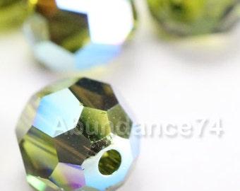 Promotion Item - 120pcs Swarovski Elements 5000 4mm Crystal Round Beads - KHAKI AB (While Stocks Last)