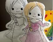 DoodleIts - Doodle It - Princess Snow - Washable Softie - Plushie