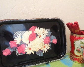 Metal Tray Mid Century As Is
