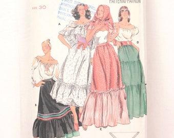 1970s Butterick 5375 // dirndl skirt