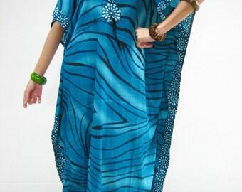 Dress DDK05 Boho African Kaftan Abaya Lagenlook Tunic Beach Spa Casual