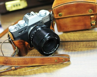 Cow leather case for Fujifilm X-T20 XT20 X-T10/ XT10 x-t10 include leather vintage full case and leather strap