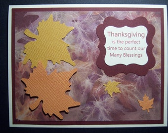 Falling Leaves Thanksgiving Card