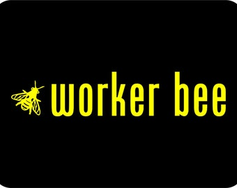Worker Bee Car Window Decal Car Sticker Bumper Sticker We love bees