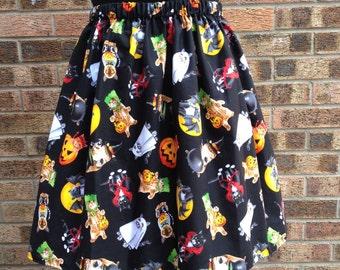 Halloween Cats Skirt - Last One!
