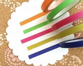 Thin Washi Tapes: Colors Galore