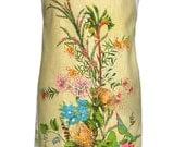 Metro Retro Tea Towel 'Australian Wildflowers' Vintage Tea Towel HANDMADE Apron - Birthday Gift Idea  - OOAK, upcycled