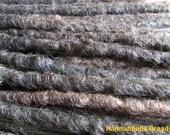 CUSTOM medium crochet synthetic dreadlock extensions - natural look, single ended, long, 30 pieces.