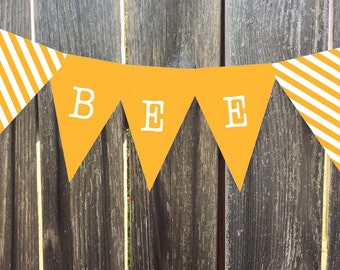 Instant Download - Printable Pennant, Bunting Banner - Yellow - Matches Bird Nest Line