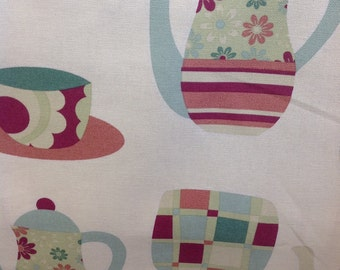 Fryetts 100% cotton Afternoon Tea design by the half metre