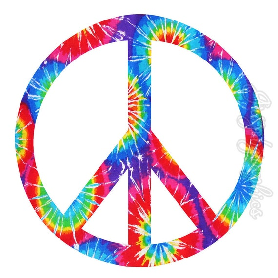 peace sign wall decals girls room tie dye wall art home decor rmk1621gm heart amp peace giant wall stickers