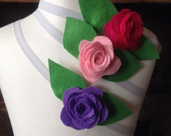 Felt Rose Hairband